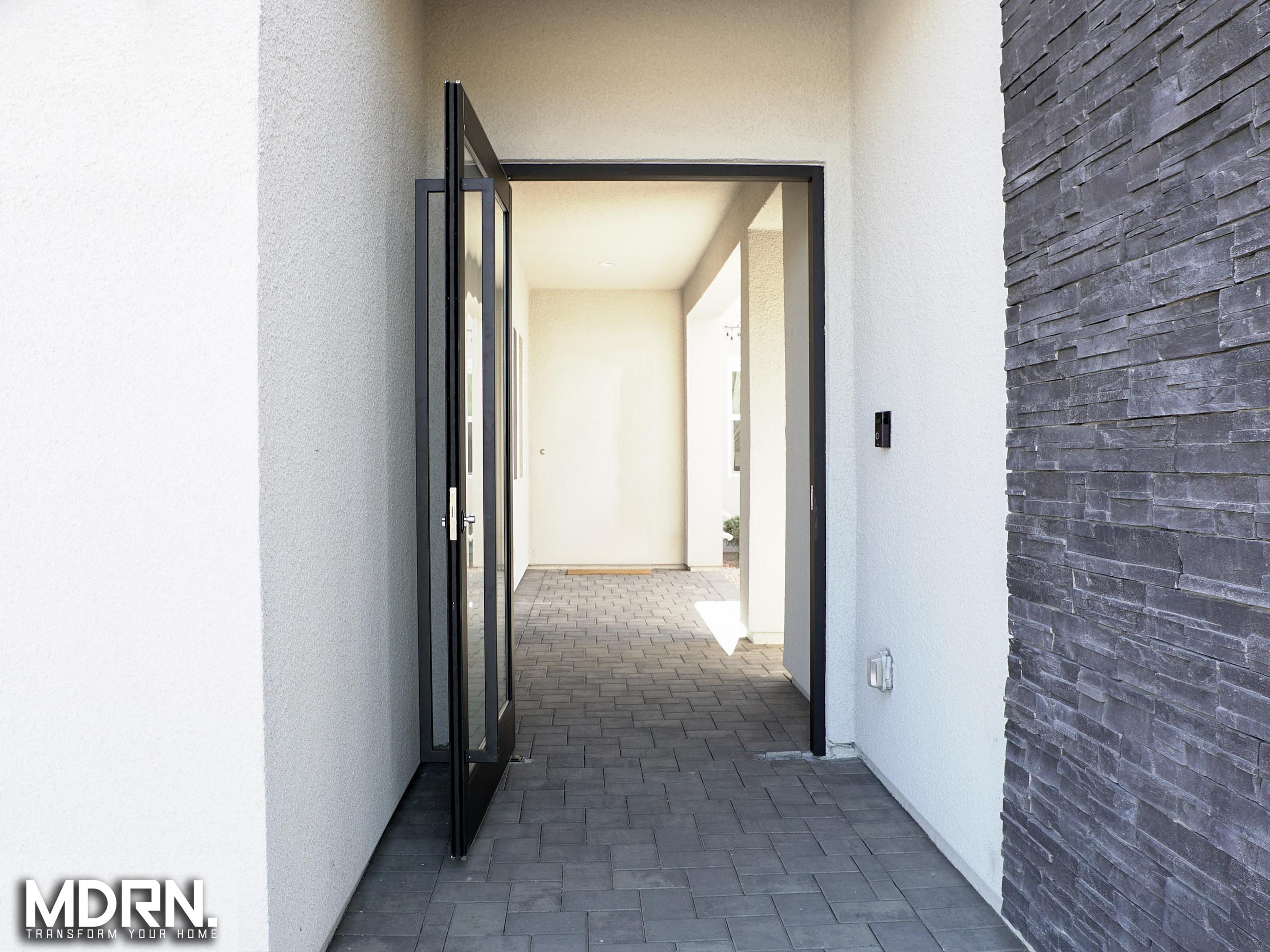 Aluminum and Glass| Pivot Entry Doors